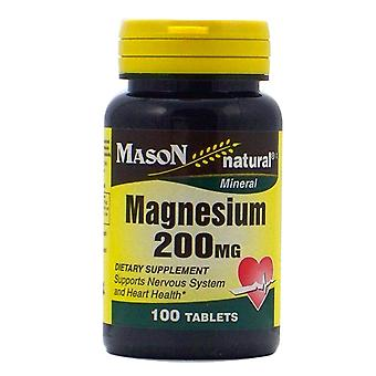 Mason natural magnesium, 200 mg, tablets, 100 ea