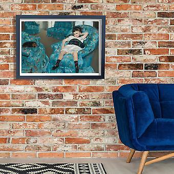 Mary Cassatt - Little Girl in a Blue Armchair Poster Print Giclee
