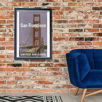 United Air Lines San Francisco Poster Print Giclee