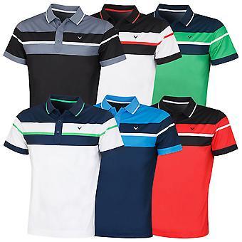 Callaway Golf Mens 2020 Borstblok Stretch Vochtafvoerend Golf Polo Shirt