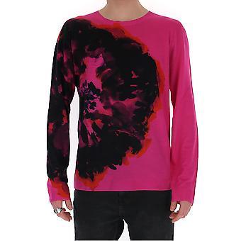 Alexander Mcqueen 610654q1alx5621 Men's Fuchsia Cotton Sweater