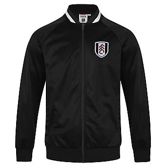 Fulham FC Official Football Gift Mens Retro Track Top Jacket