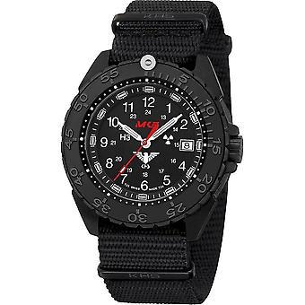 KHS Wristwatch الرجال المنفذ الأسود الصلب CR KHS. ENFBSCR.NB