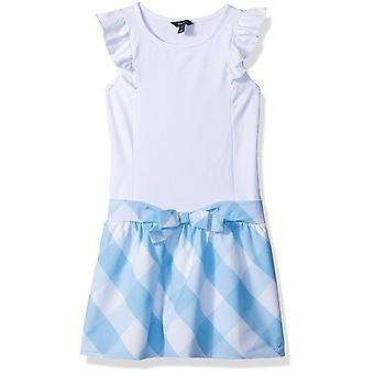 Nautica Girls' Big' Patterned Sleeveless Dress, Blue Gingham/White, X-Large (...