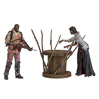 Morgan Jones with Impaled Walker and Spike Trap Figure from The Walking Dead