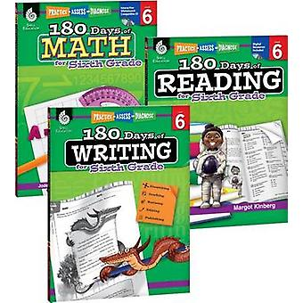 180 Days of Reading - Writing and Math for Sixth Grade 3-Book Set by