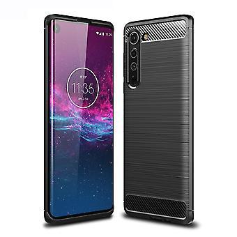 Motorola Edge Powłoka z włókna węglowego - Czarna