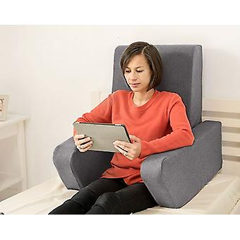 Mudando sofás Una Soft Wool Effect Leitura De Amortete o Trabalho De Volta Descanso - Pewter