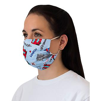 Mio BOB4 Tour of London Blue Cotton Face Mask with Removable Nose Wire
