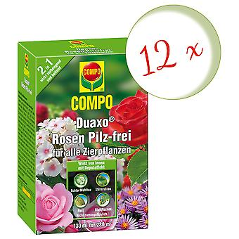 Sparset: 12 x COMPO Duaxo® Roses Mushroom-Free for all ornamental plants, 130 ml