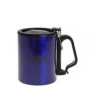 Summit Geïsoleerde Mok met Carabiner Handle Travel met Lid Outdoor Camping - 1 Unit Blue Mug