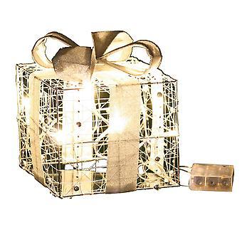 Jandei Boże Narodzenie Dekoracyjne światło różne kształty z bateriami Prezent Złoty drut 30cm 20 Led Soczewica 3000K 3X Baterie AA