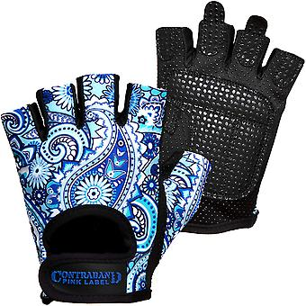 Contraband Sports 5387 Pink Label Paisley Weight Lifting Gloves - Blue