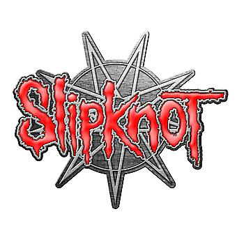 Slipknot Pin Abzeichen 9 pointed Star Band Logo neue offizielle rote Revers Metall