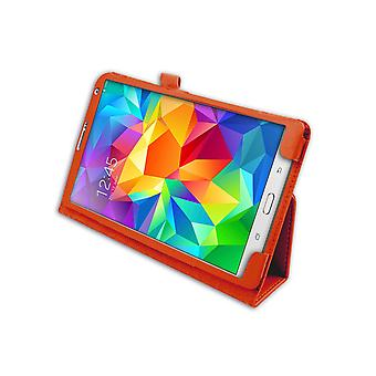 "Magnetic PU Leather Case for Samsung Galaxy Tab S 8.4"" T700[Orange]"