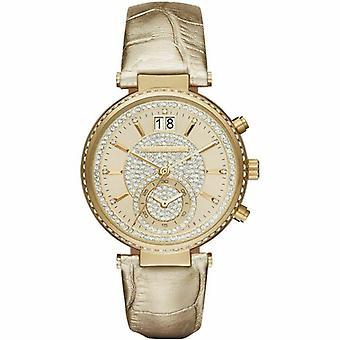 Michael Kors MK2444 Leather Strap Dazzling Model Men's Watch
