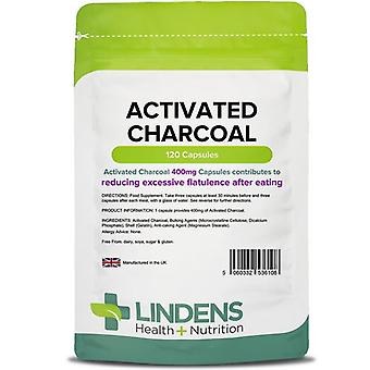 Lindens Activated Charcoal 400mg capsules 120 (6108)
