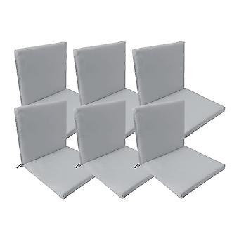 Gardenista Garden Premium tuoli istuintyyny | Secure Siteet stringit ja joustava torvea takana | Vedenkestävä | Sopii sisä- ja ulkokäyttöön (6kpl, harmaa)
