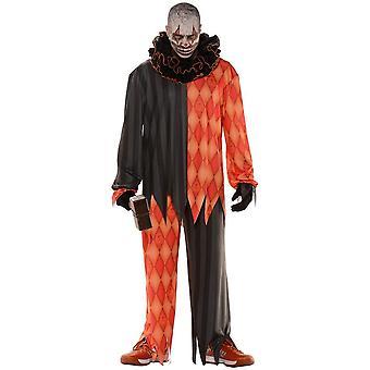 Onda Clown Halloween tonåring kostym