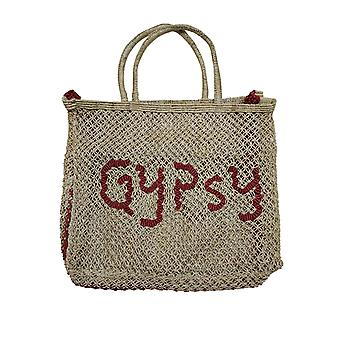 The Jacksons Women's Gypsy Beach Bag Natural-Red 44Cm