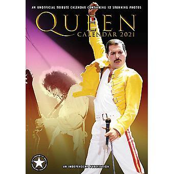 Queen Calendar 2021 Tribute Calendar DIN A3, Wall Calendar 2021, 12 Months, original English version.