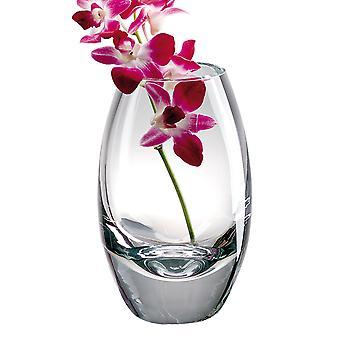 "9"" Mouth Blown Crystal European Made Vase"