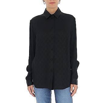 Gucci 627773zaejf1000 Frauen's Schwarze Seide Shirt