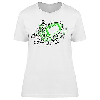 Lime Green Football Tee Women's -Image by Shutterstock