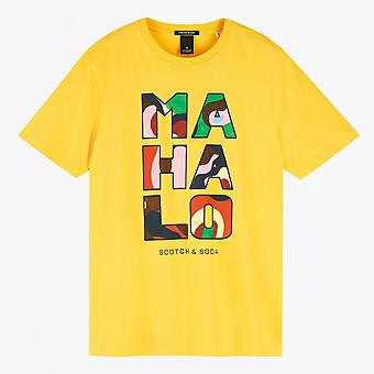 Scotch & Soda  - Hawaii Artwork Tee - Yellow