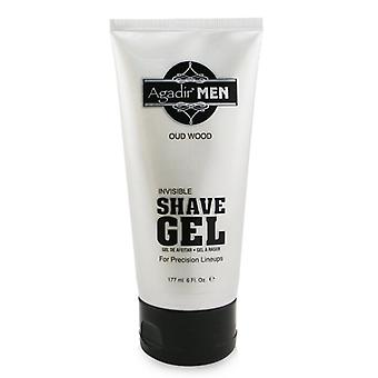 Agadir Men Invisible Shave Gel - Oud Wood - 177ml/6oz