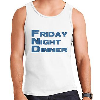 Friday Night Dinner Logo Men's Vest