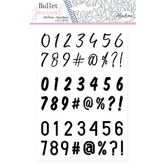 Aladine Bullet Journal Foam Timbres Numéros