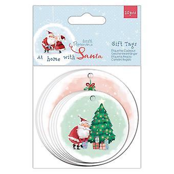 Papermania zu Hause mit Santa geformte Geschenkanhänger