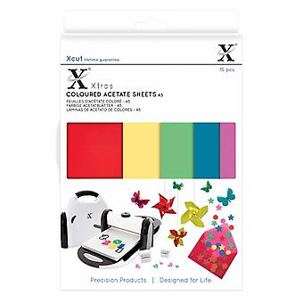 Xcut Xtra A5 farvede acetatplader (15stk) (XCU 174401)
