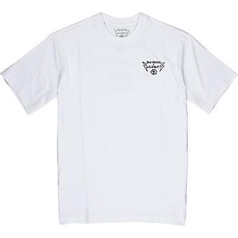 Element Rundhals-Baumwoll-T-Shirt - Bolt Lock weiß