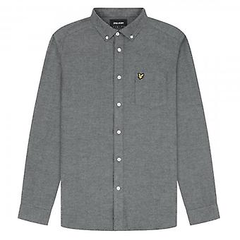 Lyle & Scott Brushed Herringbone Long Sleeve Shirt Grey LW1314V