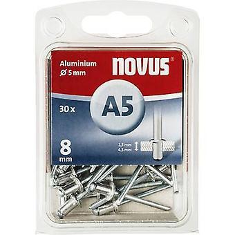 Novus 045-0026 Blind klinknagel (Ø x L) 5 x 8 mm Aluminium Aluminium 30 PC('s)