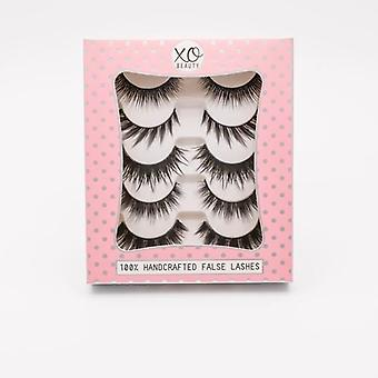 xoBeauty 5 Piece False Lashes Set - The Party Stack - Instant Eye Opening Effect