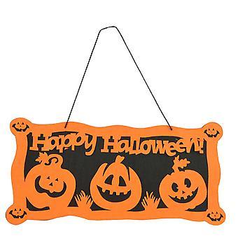 Pendant hanging from halloween pumpkin door tag window, halloween theme party props