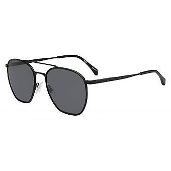 Okulary przeciwsłoneczne Mężczyźni 1090/S003/IR Męskie czarne/szare