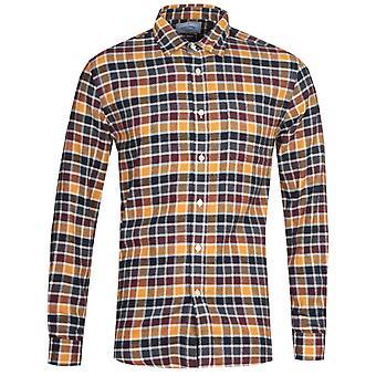 Chemise portugaise de nuances d'automne de flanelle