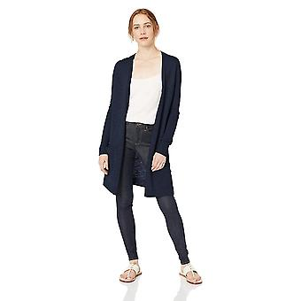 Brand - Daily Ritual Women's Lightweight Duster Cardigan, Navy, Medium