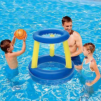 Water Swimming Basketball Hoop Pool Float- Inflatable Ring Play Toss Toy