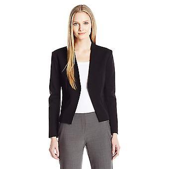 ELLEN TRACY Women's Open Front Jacket, El/Black, 12