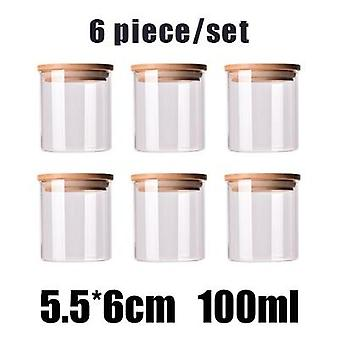 Air Tight Mason Glass Jars With Bamboo Lid For Kitchen Product Storage