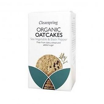 Clearspring - Org Oatcakes Sea Veg + Blk Pep 200g