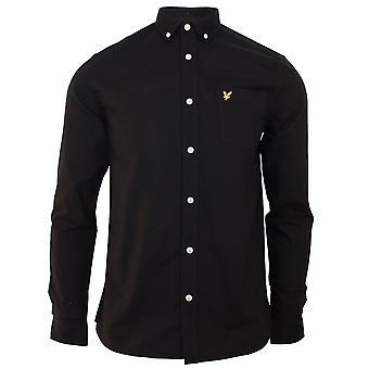Lyle & scott men's jet black oxford shirt