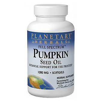 Planetary Herbals Pumpkin Seed Oil, Full Spectrum, 1000 mg, 45 Caps