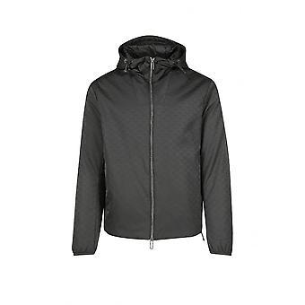 Emporio Armani Polyester Navy Hooded Jacket