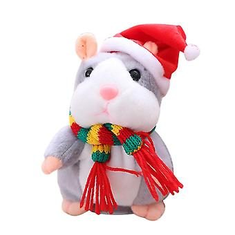 Electrical Hamster-talking/walking/nodding/sound Record Pet Plush Toy